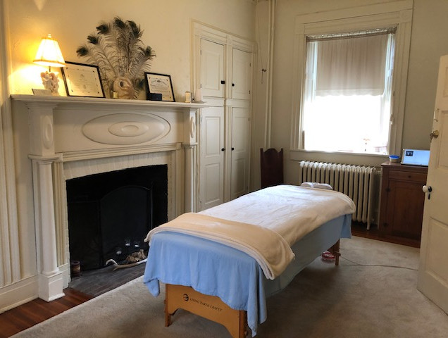 Your massage room at Apple Blossom Massage awaits you!