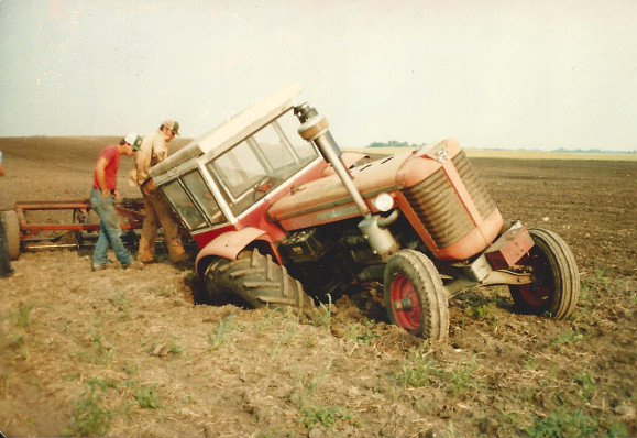 Sinking Tractor