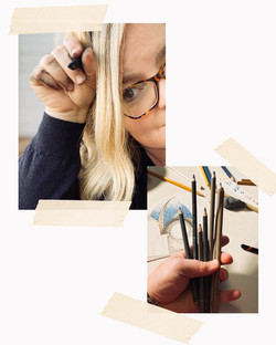 An Artist & Her tools