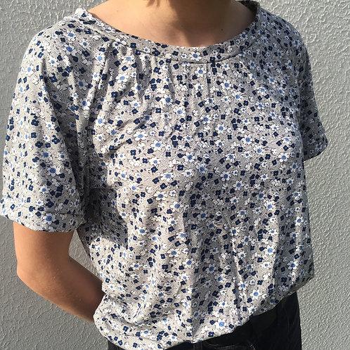 T-Shirt Petites fleurs Grises