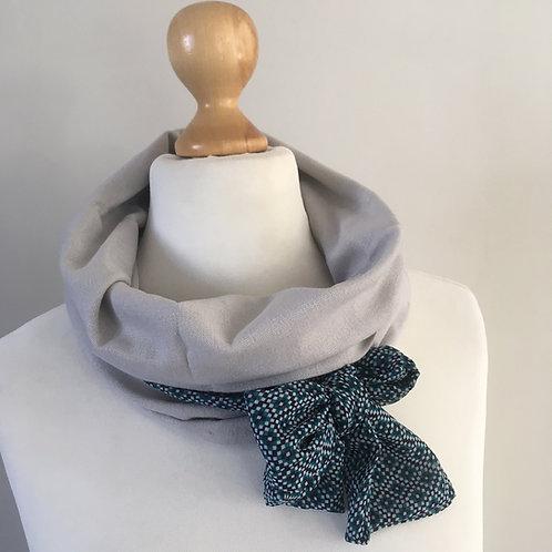 Snood foulard uni lurex