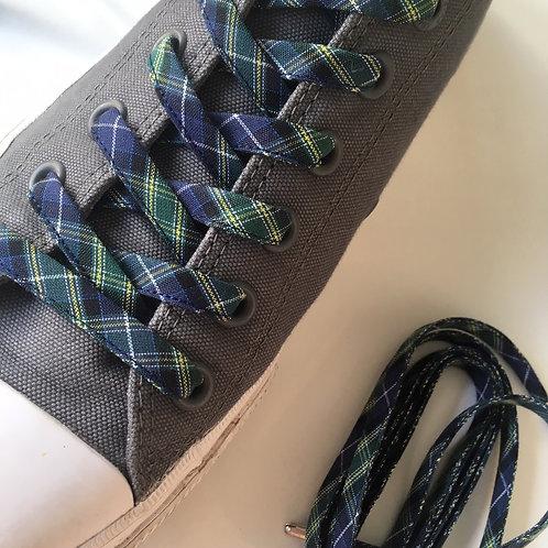 Lacets écossais bleu