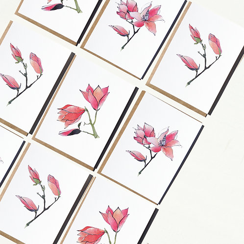 Magnolia Theme Greeting Cards & Prints