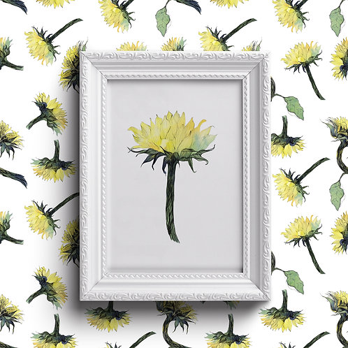 Sunflowers Theme Greeting Cards & Prints