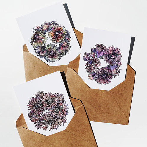 Botanical Wreaths Theme Greeting Cards & Prints