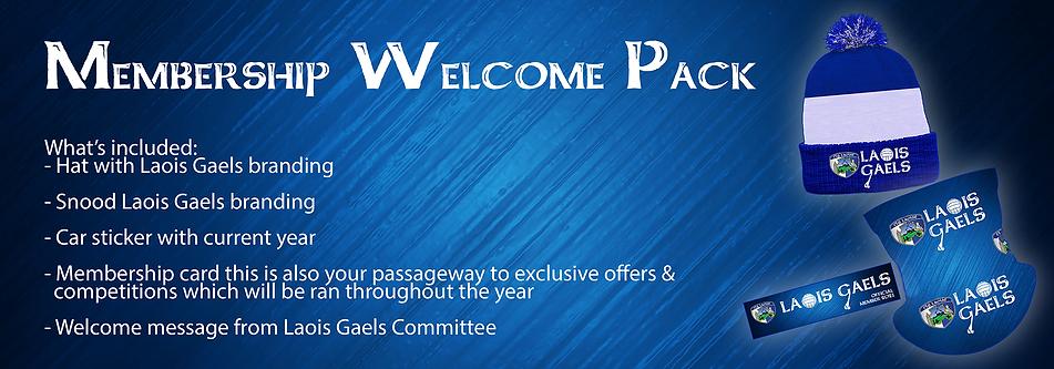 Laois Gaels Membership Welcome Back 2021