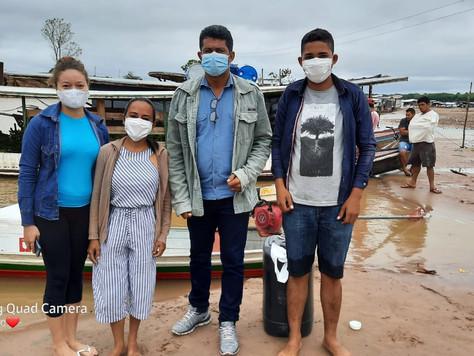 Equipe de imunização retorna do Rio Muru