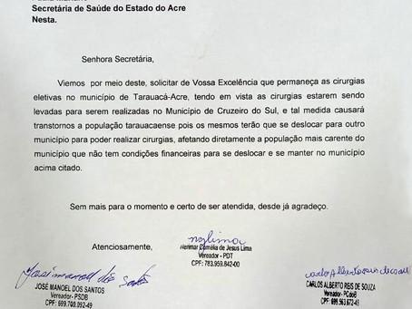 Vereadora Veínha solicita à SESACRE que as cirurgias eletivas continuem no município