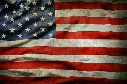 USA Flag tempered glass