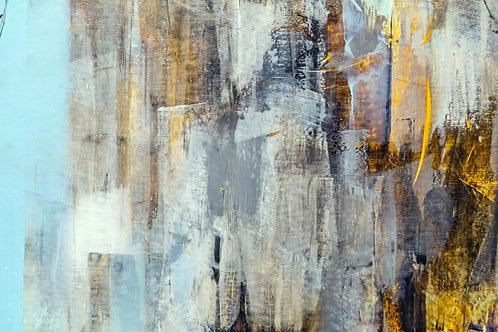 Abstract blue canvas
