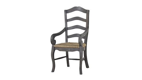 Ladder Back Chair W/ Arm W/ Rush Seat
