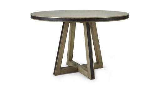 Maddox Dining Table W/ Tin Inlay