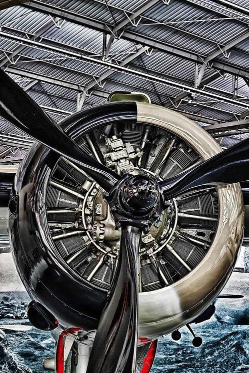Plane engine tempered glass