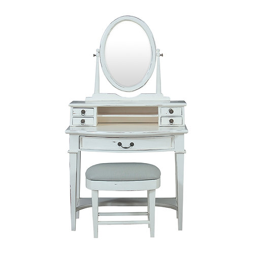 Aries Dressing Vanity W/ Stool Set