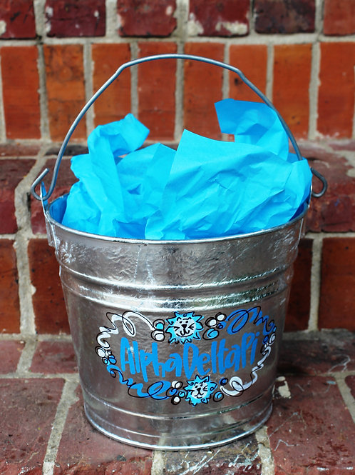 Alpha Delta Pi Galvanized Bucket