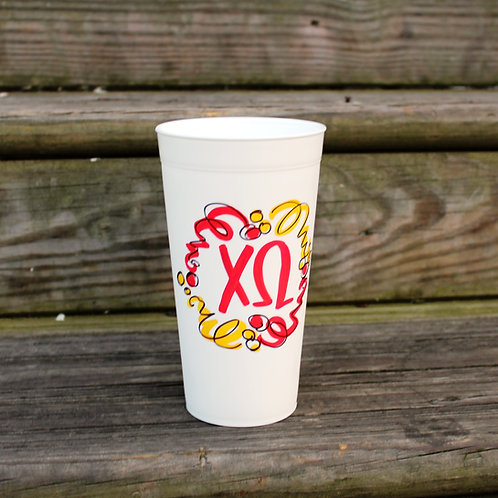 Chi Omega Confetti Cup