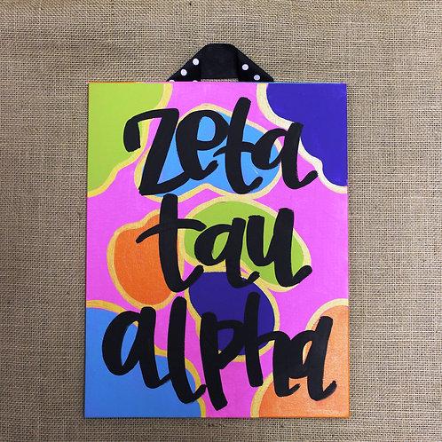 Zeta Tau Alpha Fun & Funky Canvas
