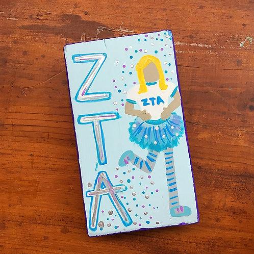 Zeta Tau Alpha Personalized LuLu Block