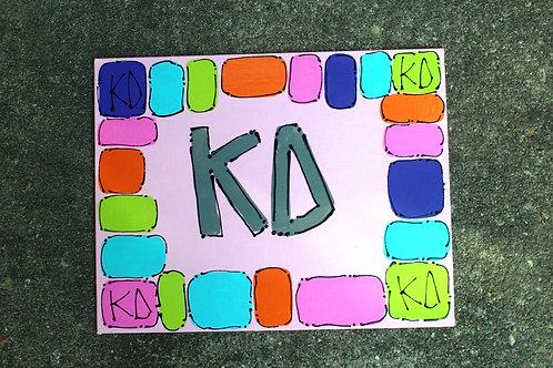 Kappa Delta Happy Canvas