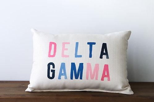 Delta Gamma Color Block Pillow