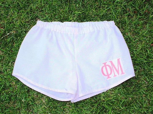 Phi Mu Seer Sucker Shorts