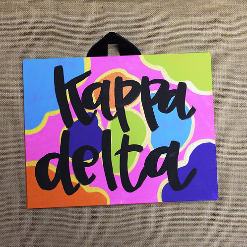 Kappa Delta Fun and Funky Canvas