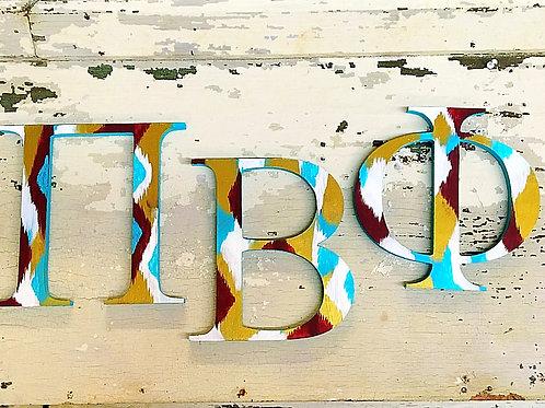 Pi Beta Phi Sorority Dye Cut Letters