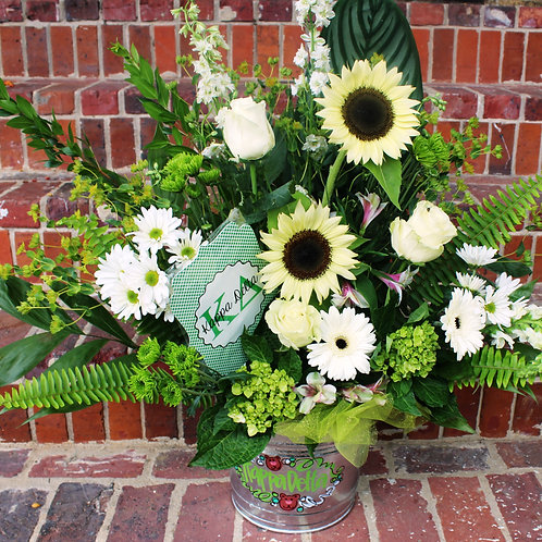 Phi Mu Large Flower Arrangement