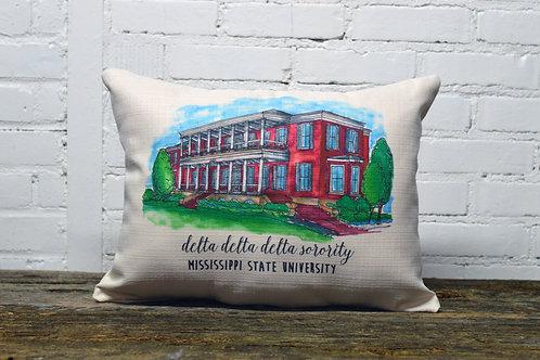 Tri Delta Sorority House Pillow