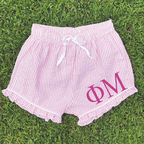 Phi Mu Seer Sucker Shorts