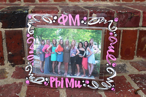 Phi Mu Acrylic Picture Frame