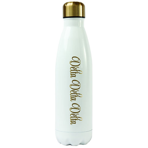 Tri Delta Gold & White Water Bottle