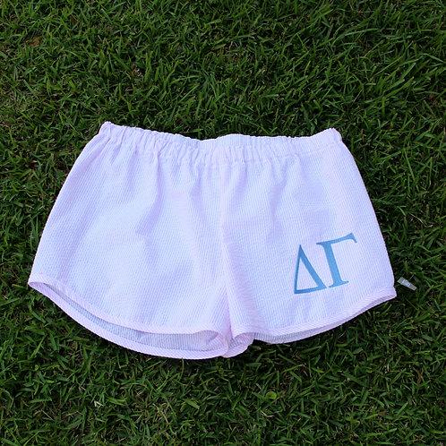Delta Gamma Seer Sucker Shorts
