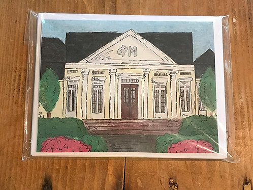 Phi Mu House Stationary