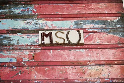 MSU Wooden Sign