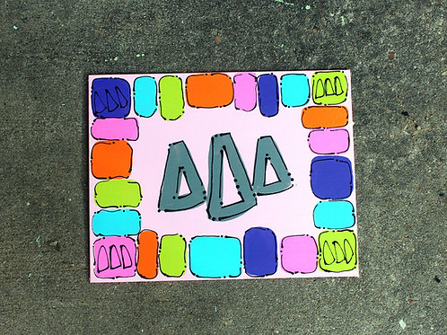 Tri Delta Happy Canvas