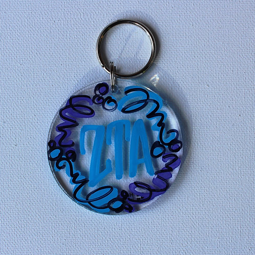 Zeta Tau Alpha Acrylic Keychain