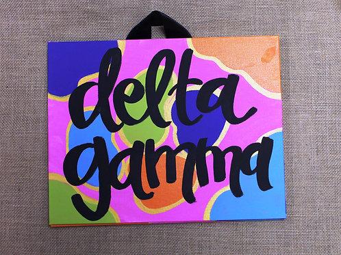 Delta Gamma Fun & Funky Canvas
