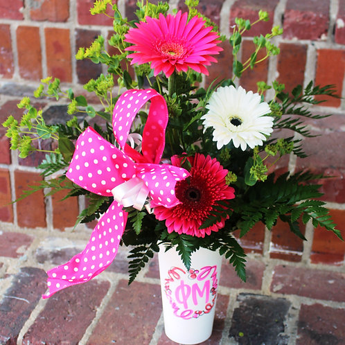 Chi Omega Small Floral Tumbler