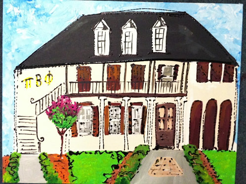 Pi Beta Phi Sorority House Print