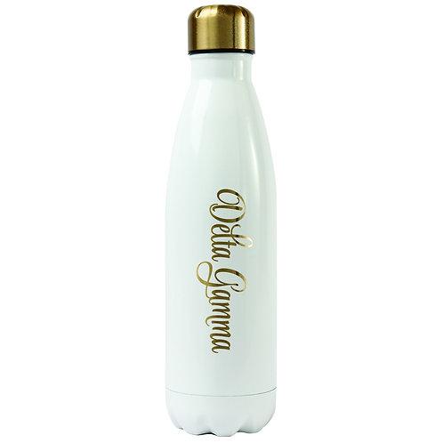 Delta Gamma Gold & White Water Bottle