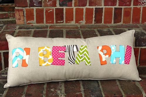 Pi Beta Phi Large Applique Pillow