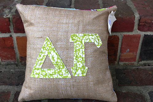Delta Gamma Small Applique Pillow