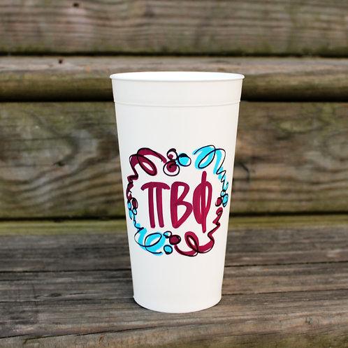 Pi Beta Phi Confetti Cup