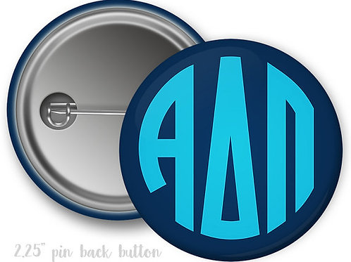 Alpha Delta Pi Monogram Pin Button