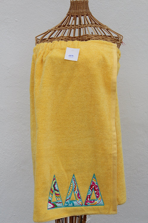 Tri Delta Towel Wrap