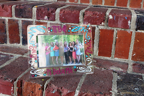 Pi Beta Phi Acrylic Picture Frame