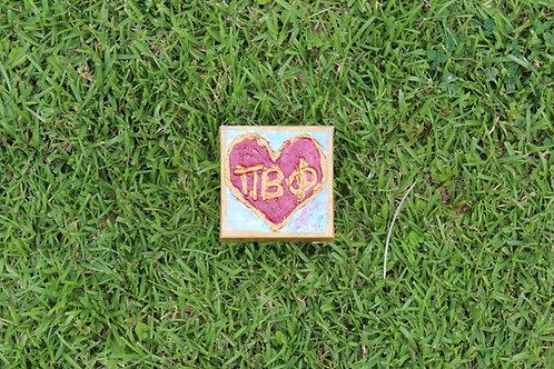 Pi Beta Phi Small Heart Canvas