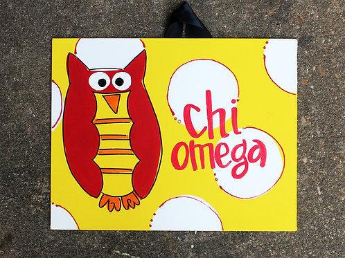 Chi Omega Mascot Canvas