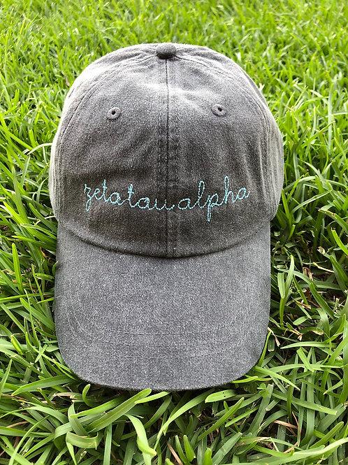 Zeta Tau Alpha Sorority Script Hat